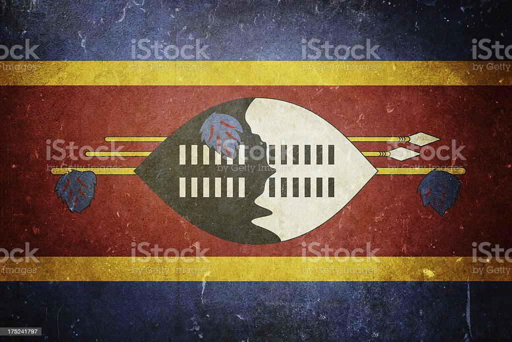 Flag of Swaziland royalty-free stock photo