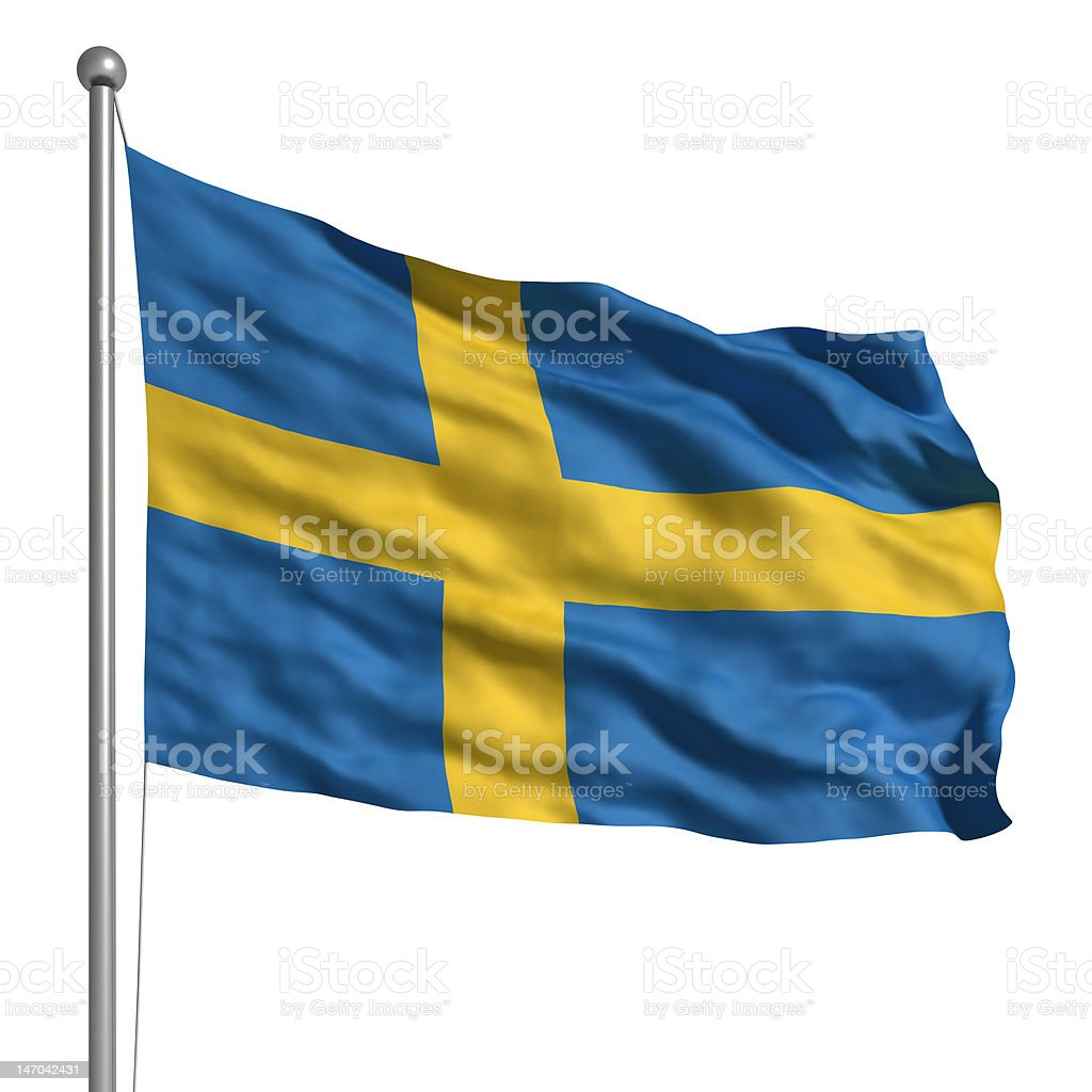 Flag of Sweden (Isolated) stock photo