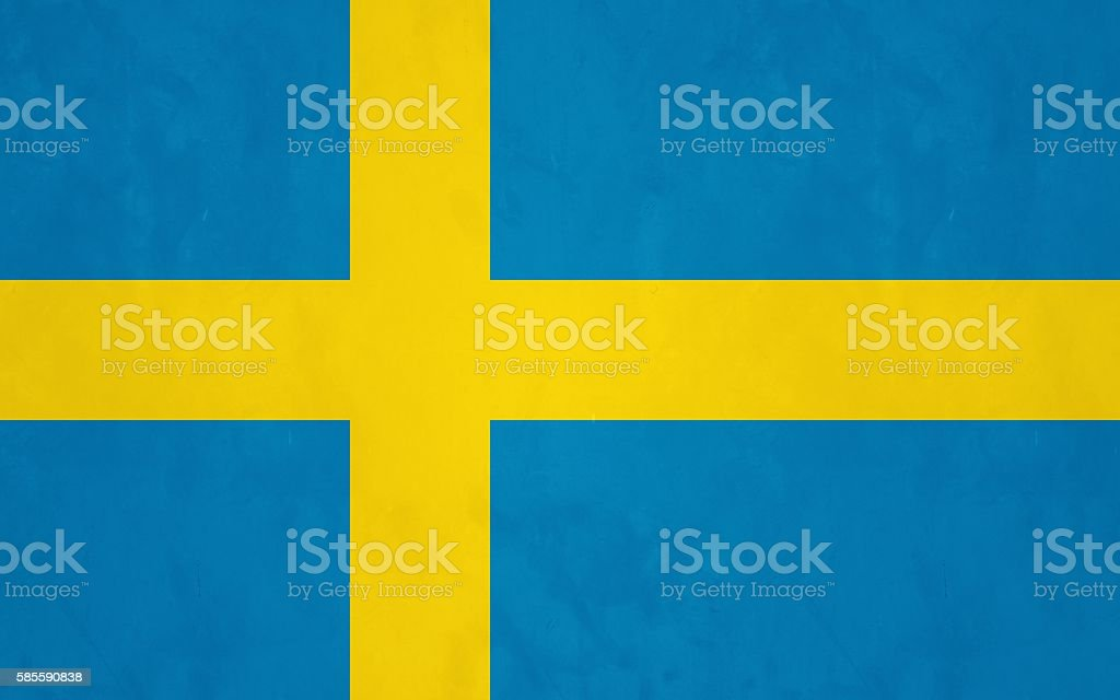 Flag of Sweden stock photo