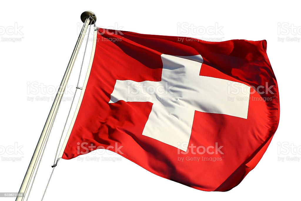 Flag of Switzerland isolated stock photo