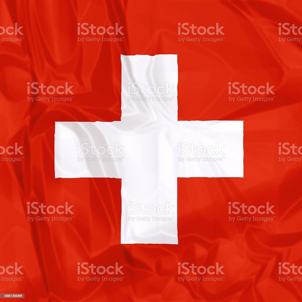 Flag of Switzerland stock photo