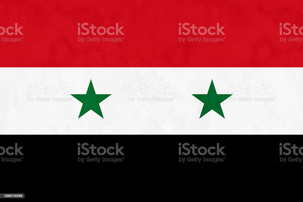 Flag Of Syria stock photo