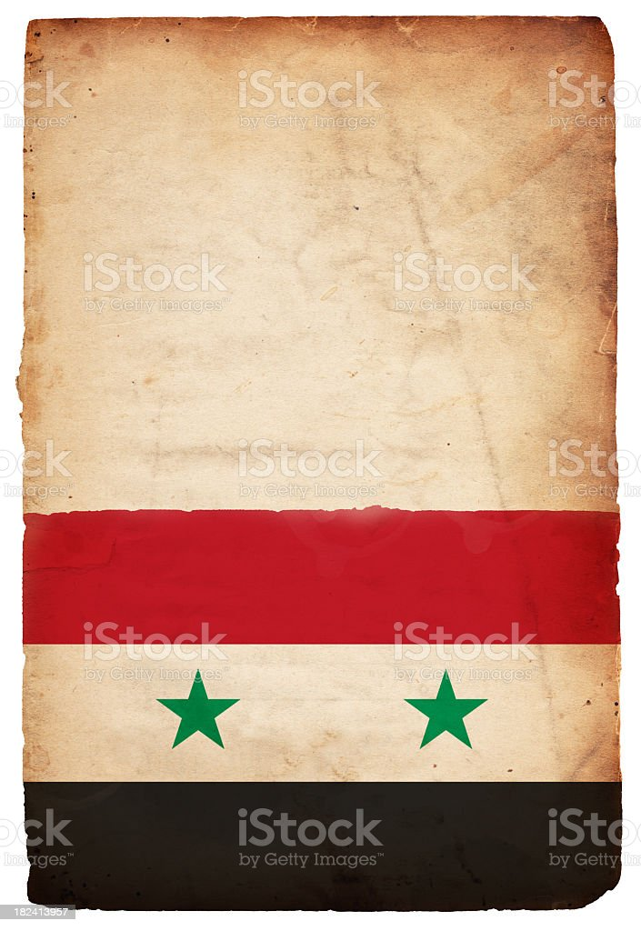 Flag of Syria - XXXL stock photo