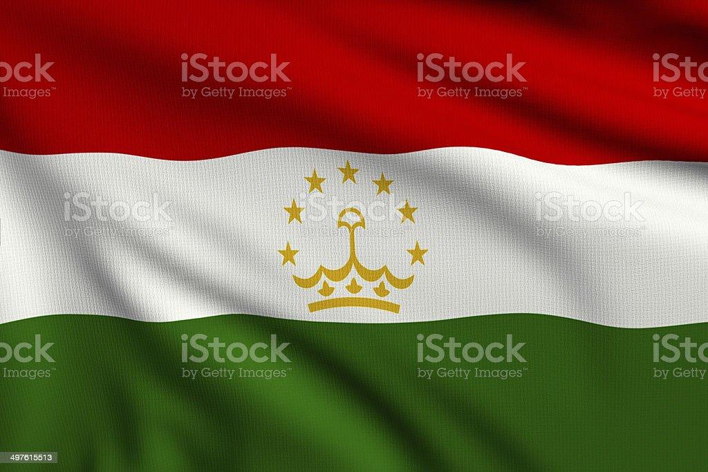 Flag of Tadjikistan royalty-free stock photo