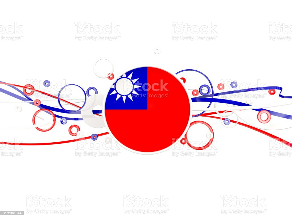 Flag of taiwan, circles pattern with lines stock photo