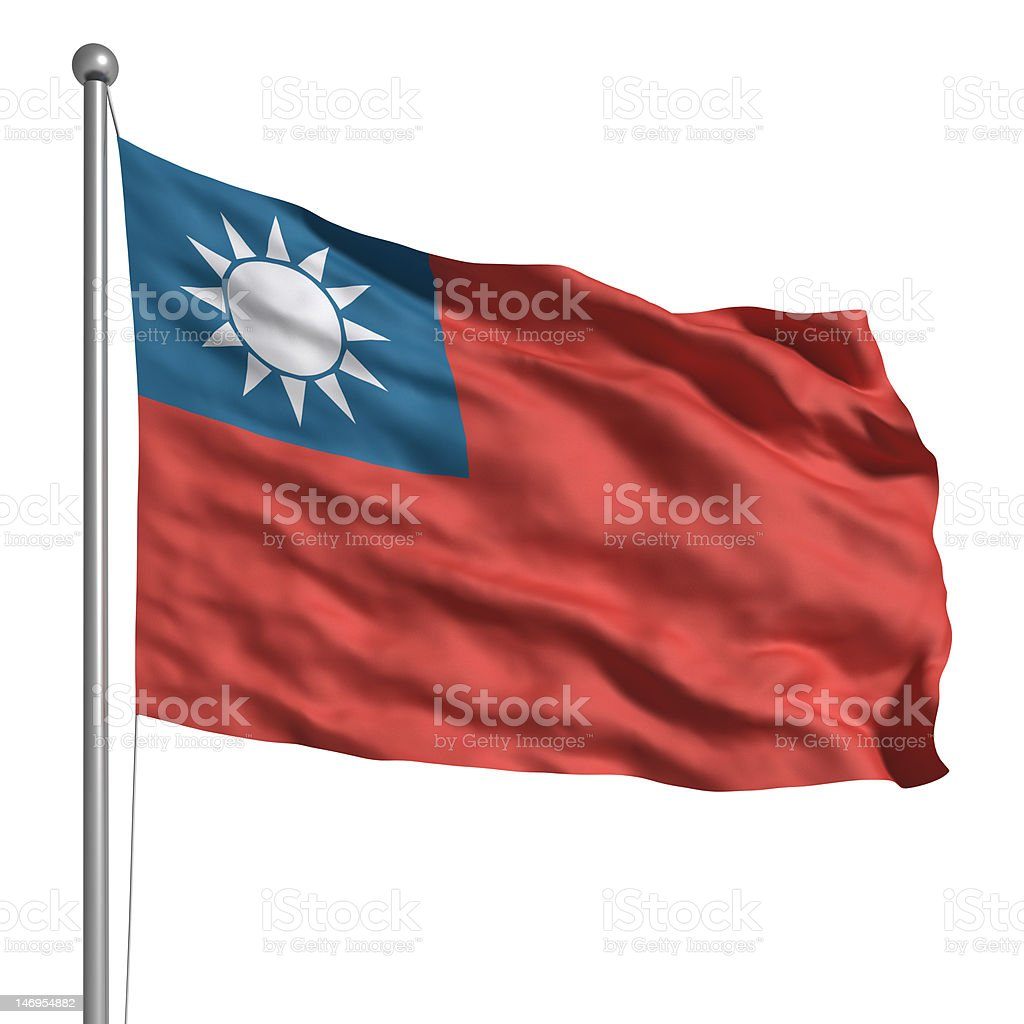 Flag of Taiwan (Isolated) royalty-free stock photo