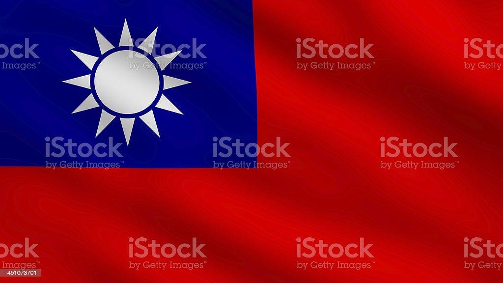 Flag of Taiwan royalty-free stock photo