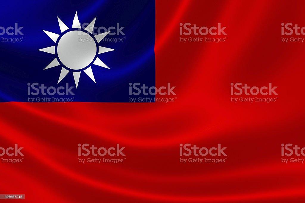 Flag of Taiwan (Republic of China) stock photo