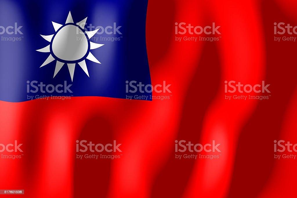 Flag of Taiwan stock photo