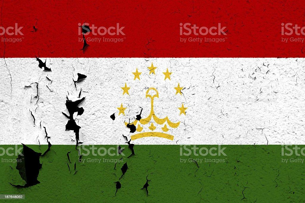 Flag of Tajikistan stock photo
