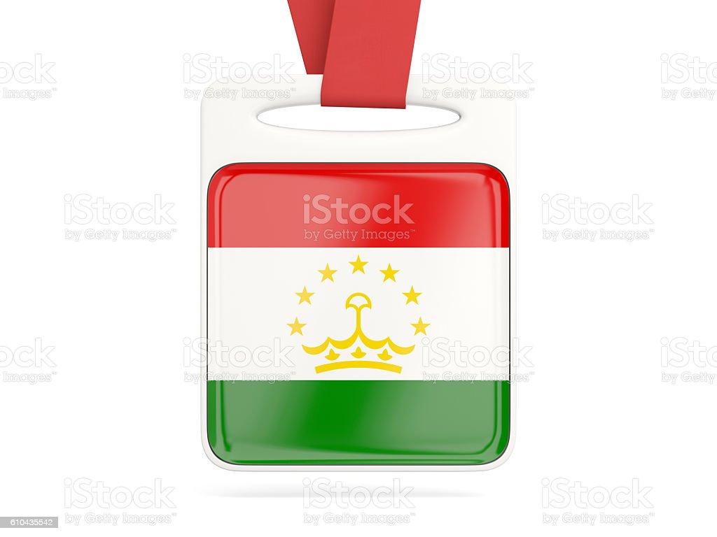 Flag of tajikistan, square card stock photo