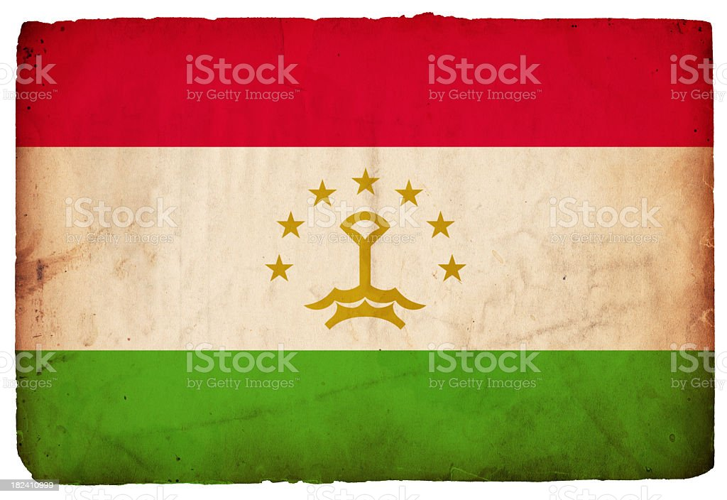 Flag of Tajikistan - XXXL stock photo