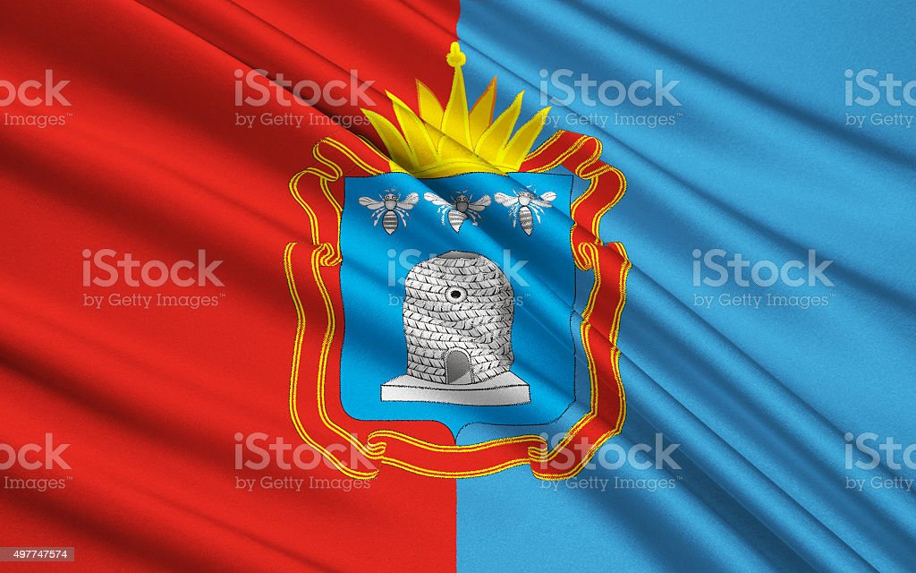 Flag of Tambov Oblast, Russian Federation stock photo