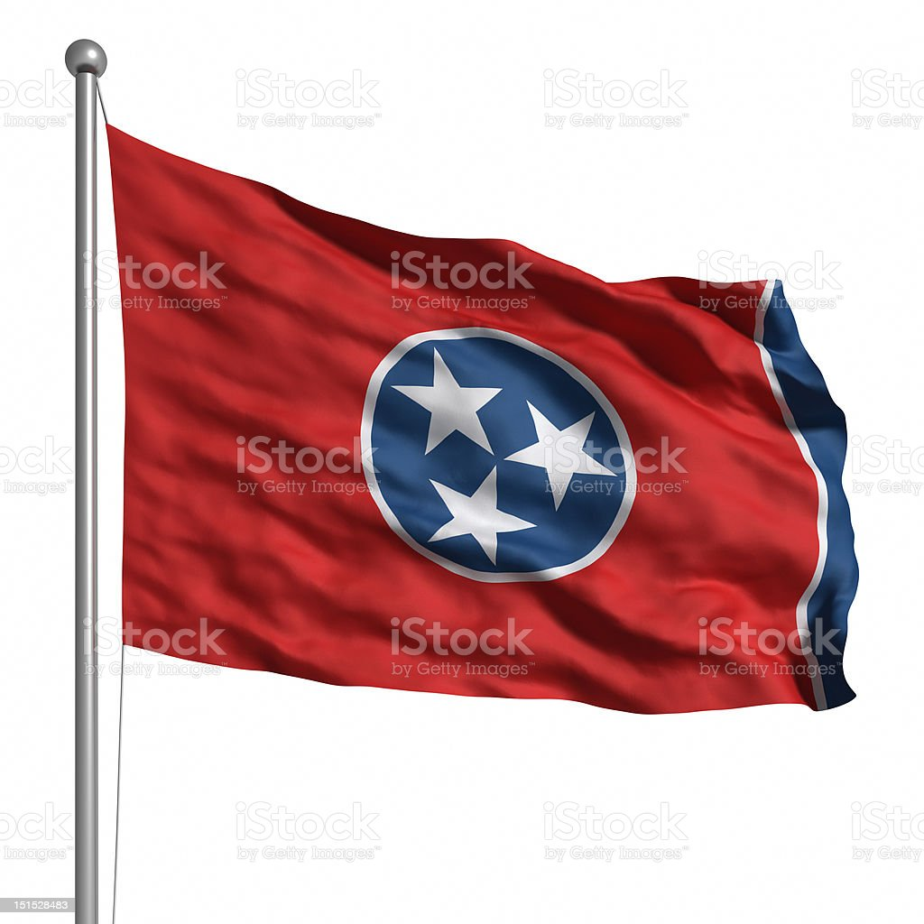 Flag of Tennessee (isolated) stock photo