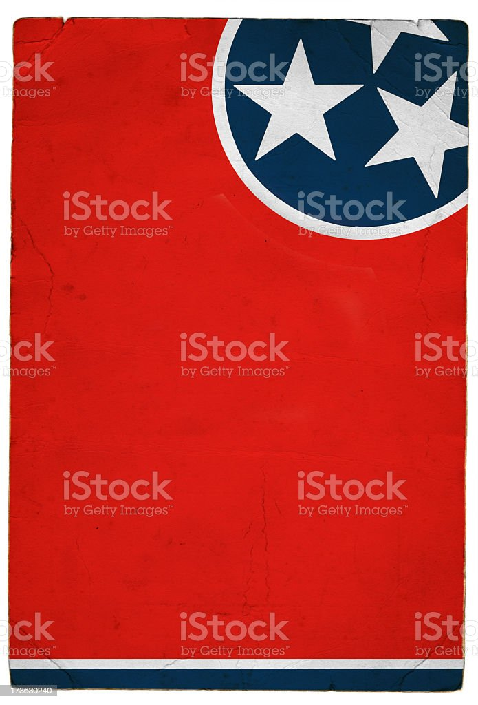 Flag of Tennessee royalty-free stock photo