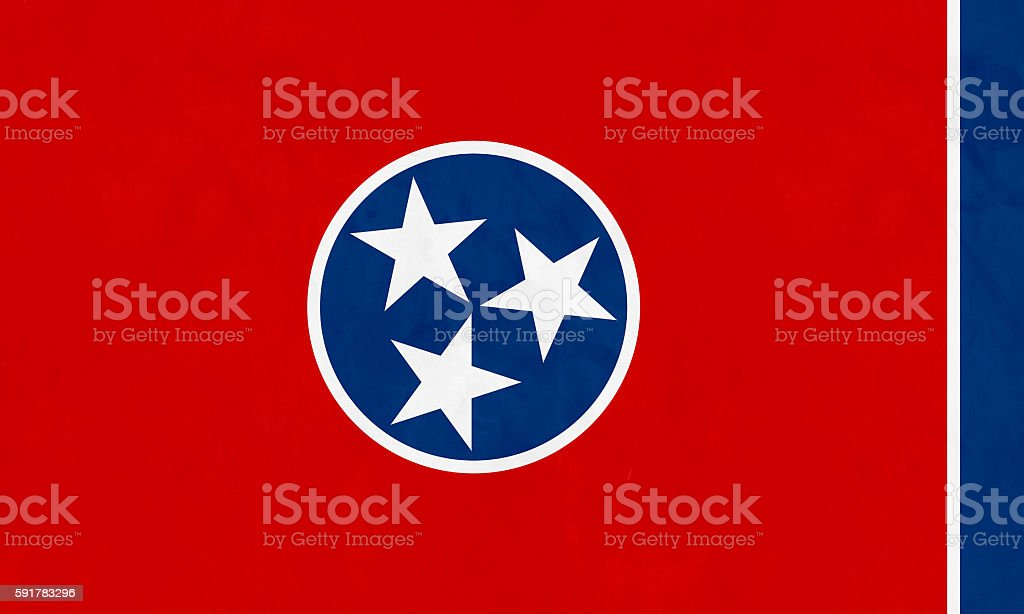 Flag Of Tennessee (U.S. state) stock photo