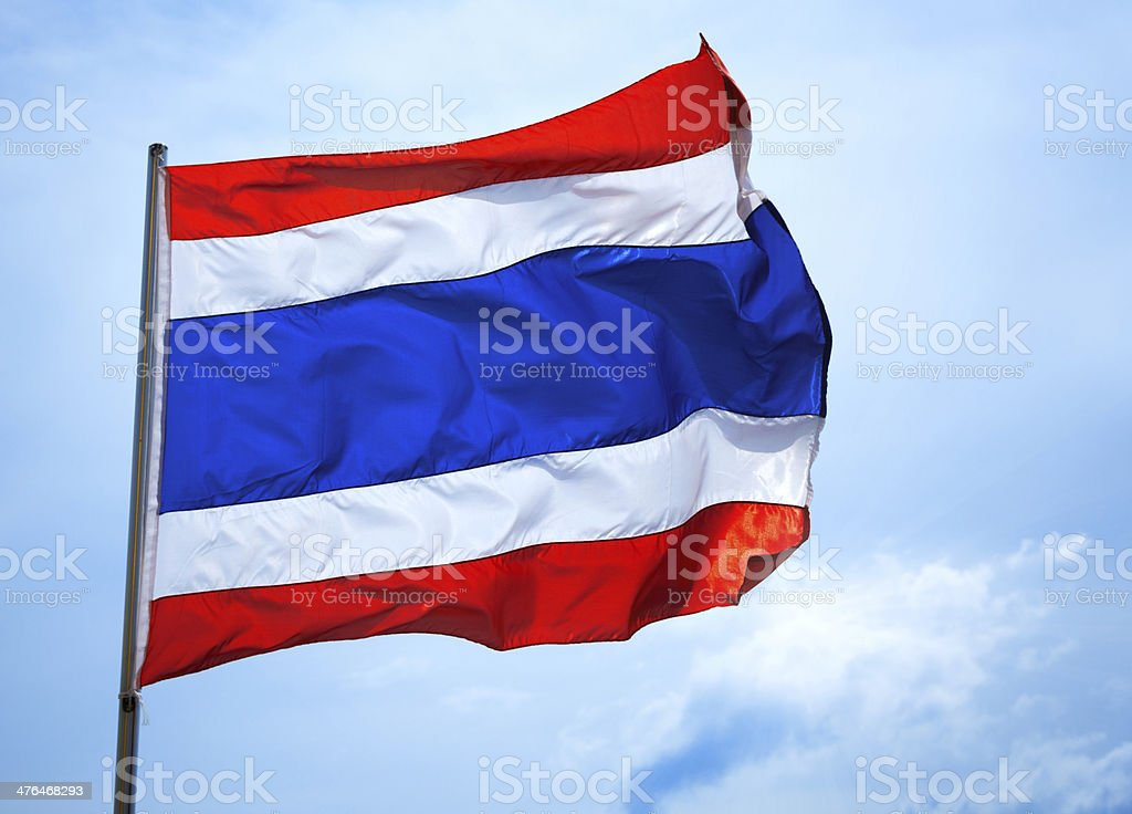 Flag of Thailand royalty-free stock photo