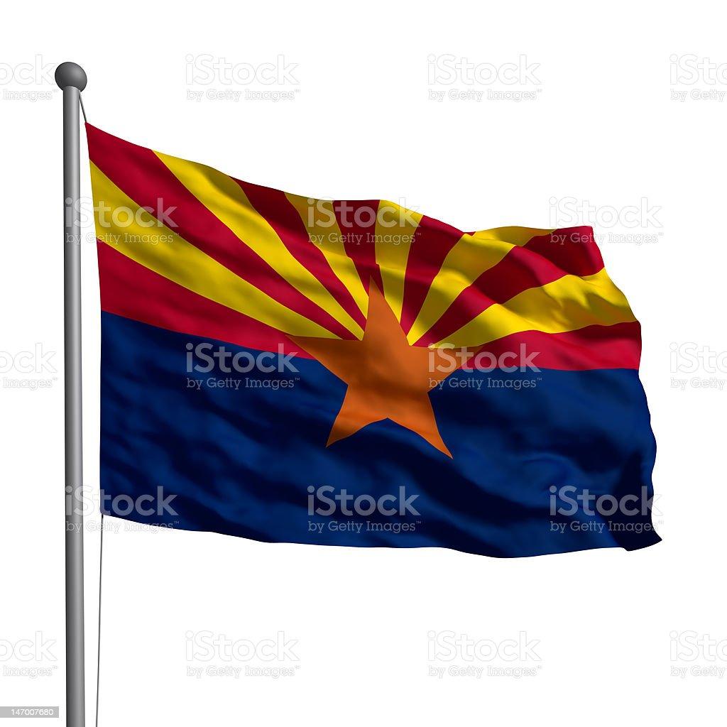 Flag of the Arizona stock photo
