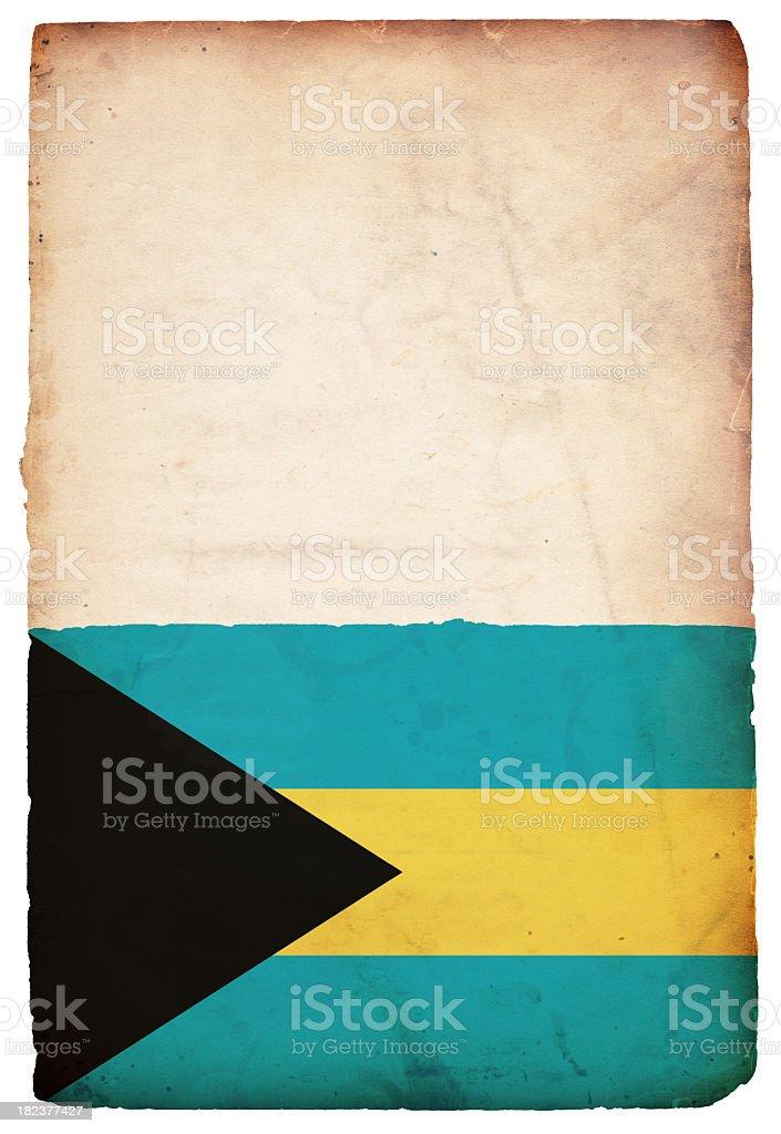 Flag of the Bahamas - XXXL stock photo