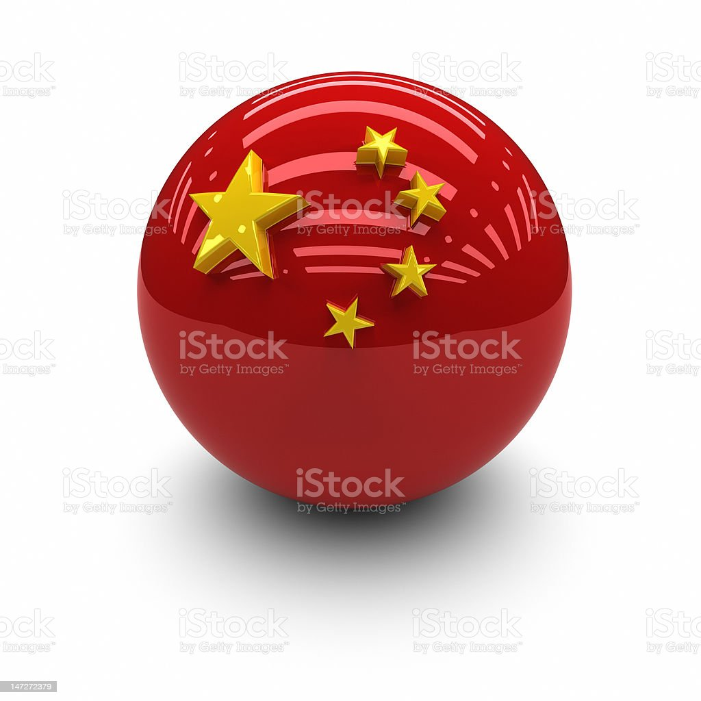 3D  - Flag of The China royalty-free stock photo
