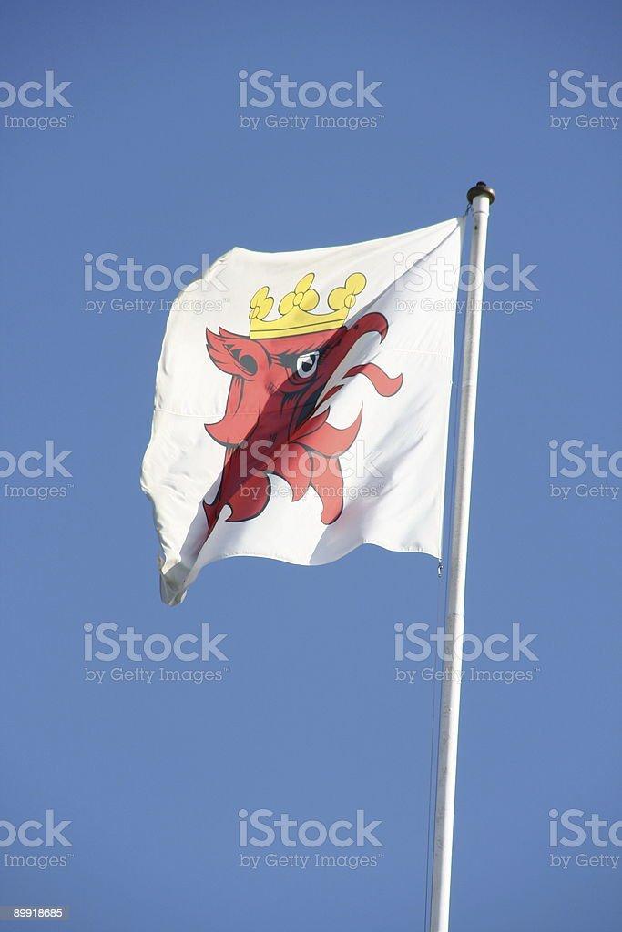 Flag of the city Malmö stock photo