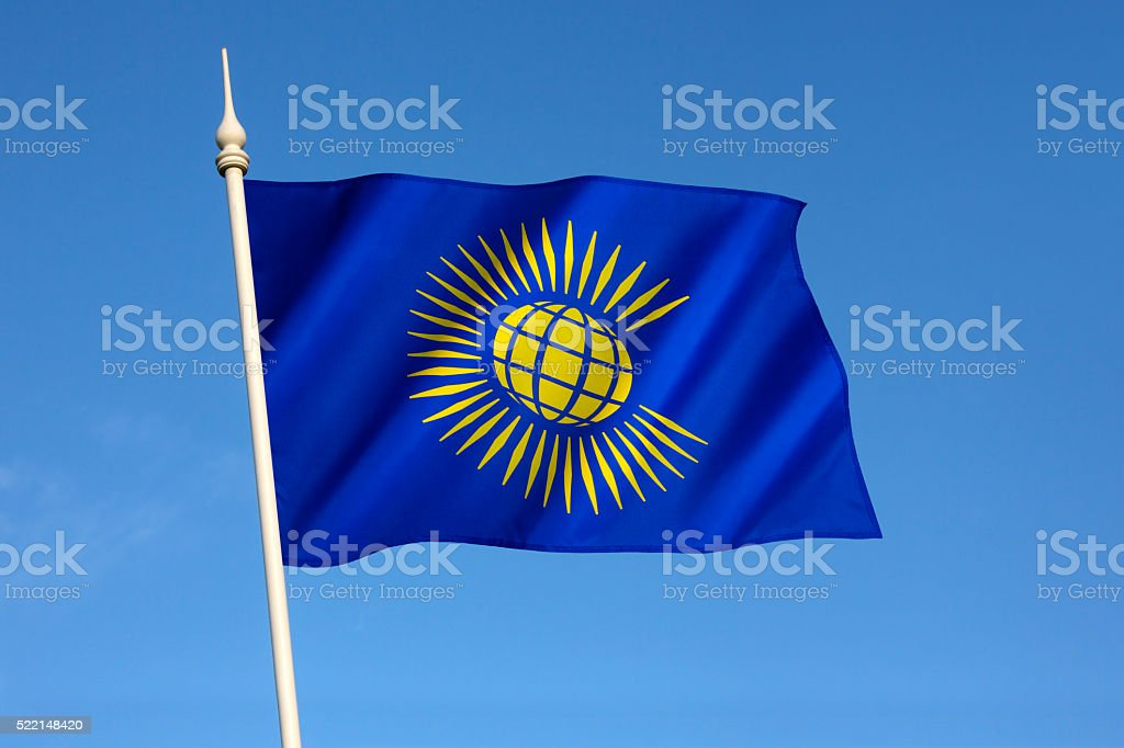 Flag of the Commonwealth of Nations stock photo