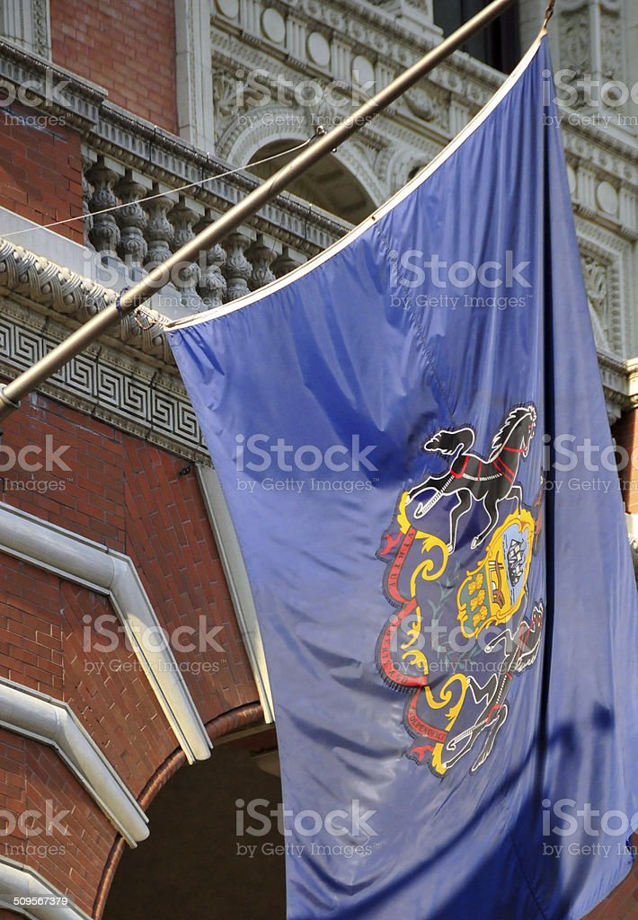 Flag of the Commonwealth of Pennsylvania stock photo