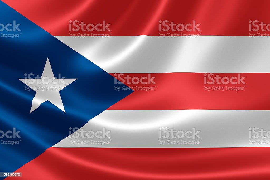 Flag of the Commonwealth of Puerto Rico stock photo