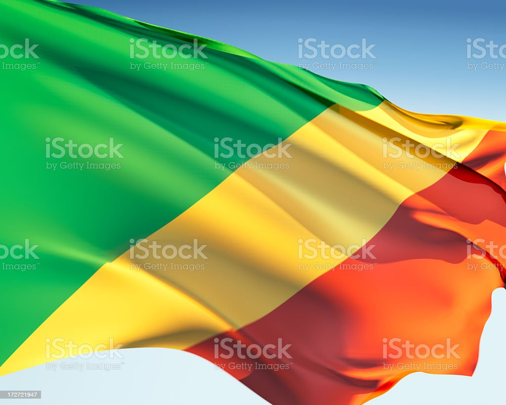 Flag of the Congo stock photo