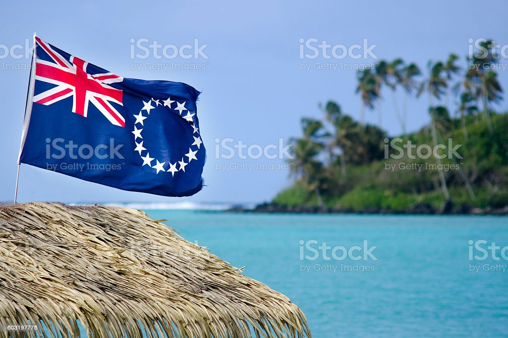 Flag of the Cook Islands - Cook Islands Ensign stock photo