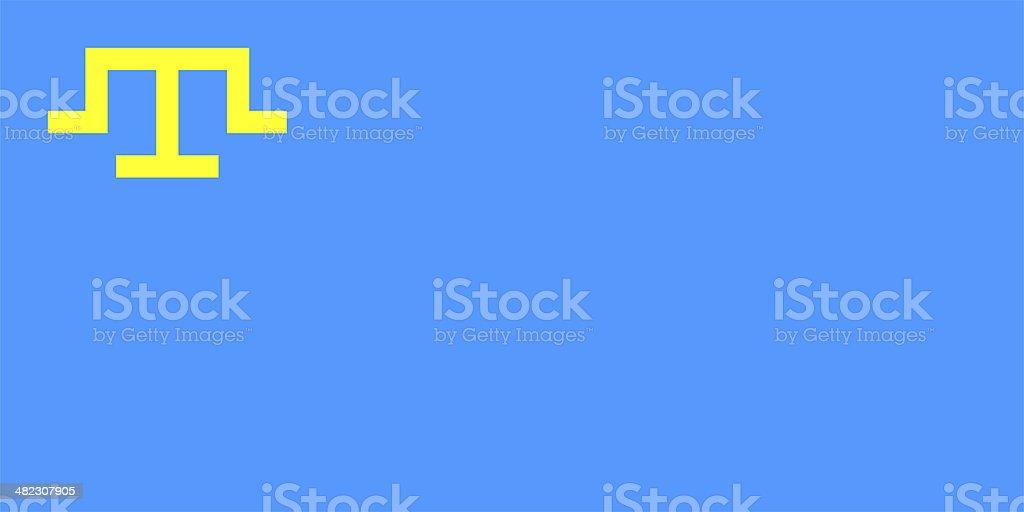 Flag of the Crimean Tatar people. stock photo