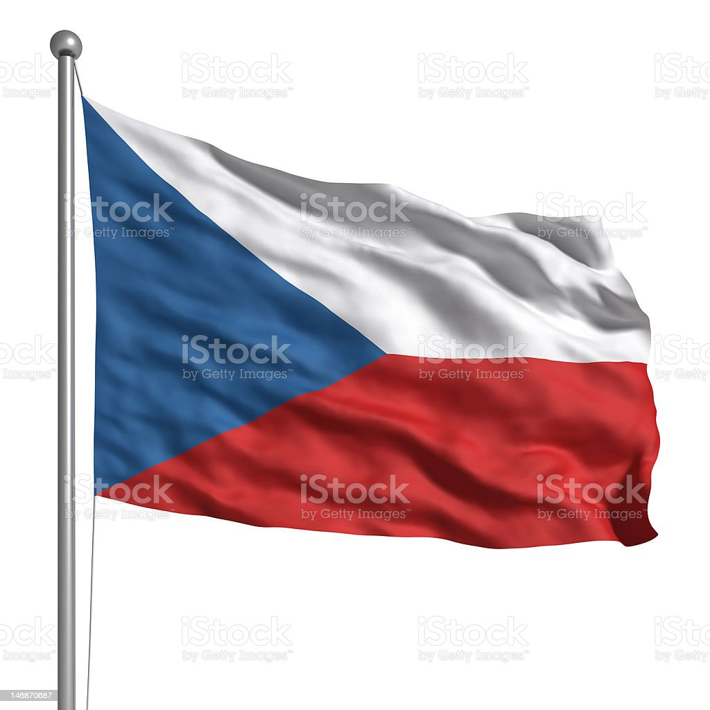 Flag of the Czech Republic (Isolated) stock photo