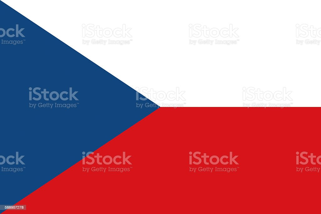 Flag of the Czech Republic vector art illustration