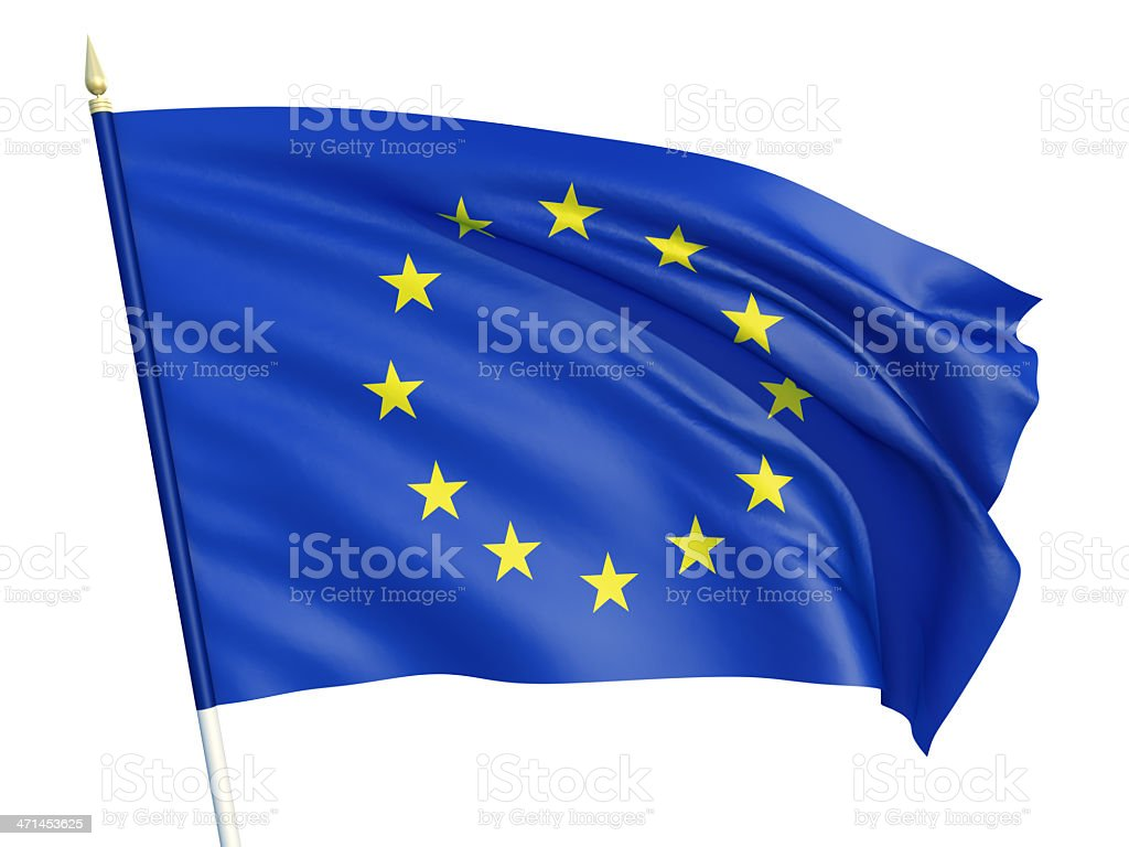 Flag of the European Union royalty-free stock photo