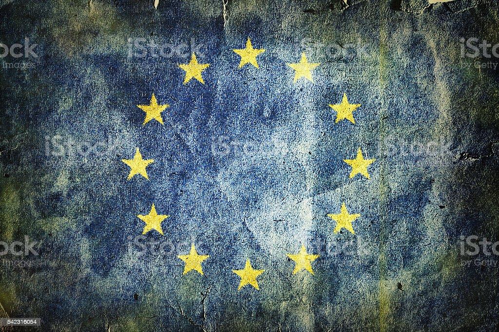 Flag of the European Union stock photo