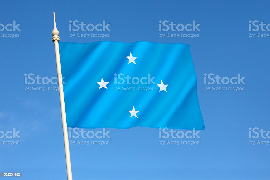 Flag of the Federated States of Micronesia stock photo