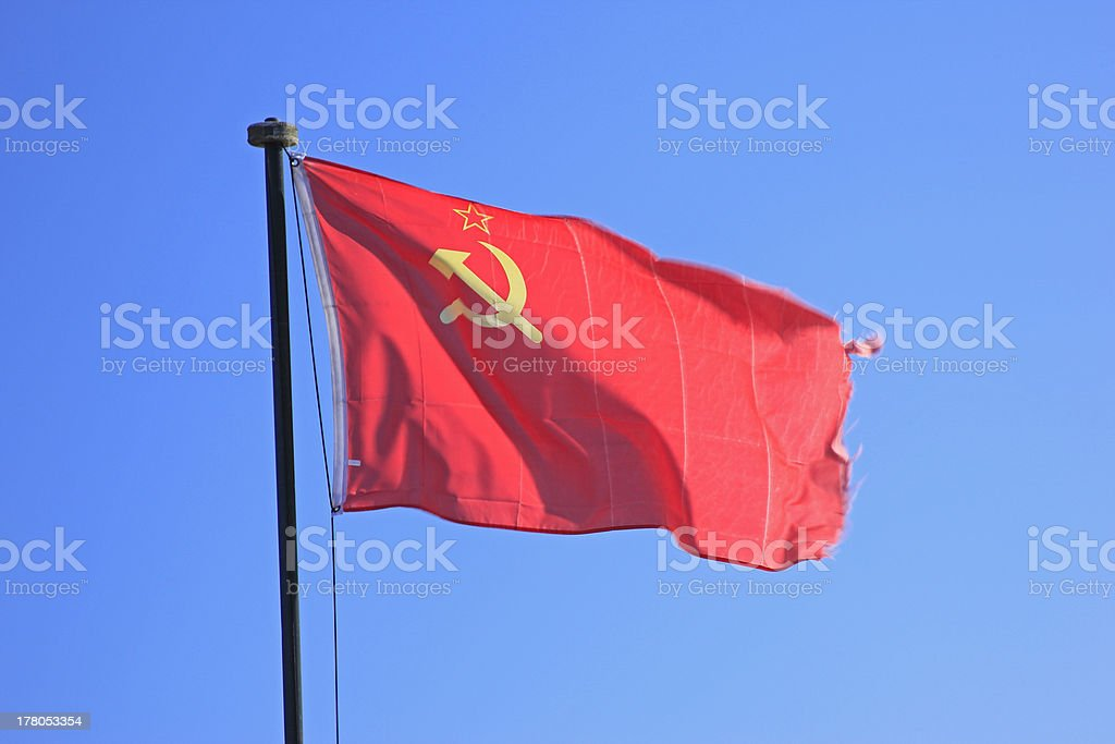 Flag of the former Soviet Union stock photo