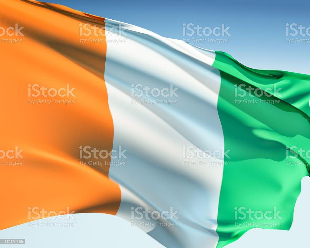 Flag of the Ivory Coast stock photo