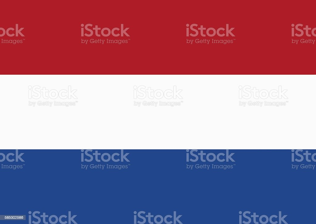 Flag Of The Kingdom Of The Netherlands stock photo