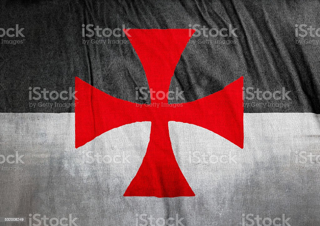 Flag of the Knights Templar stock photo
