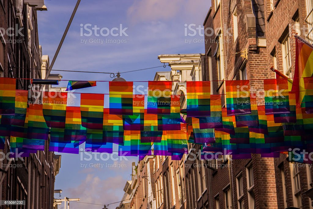 Flag of the LGBT community stock photo
