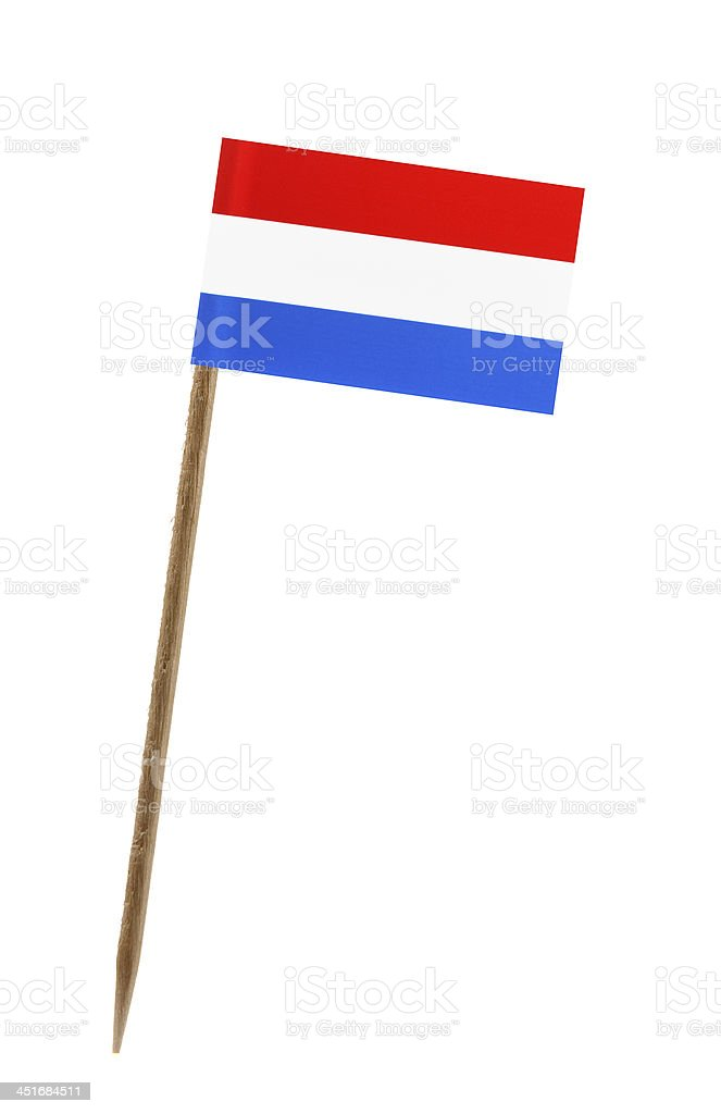 Flag of the Netherlands isolated on a white background stock photo