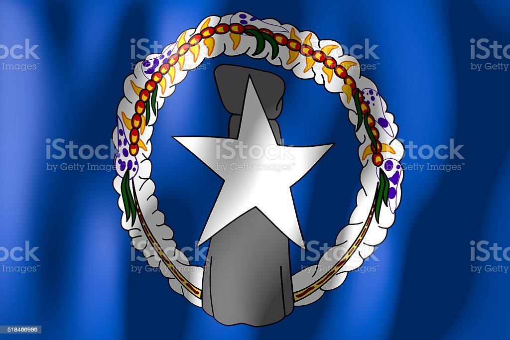 Flag of the Northern Mariana Islands stock photo
