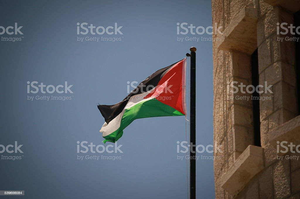 Flag of the Palestinian Authority stock photo