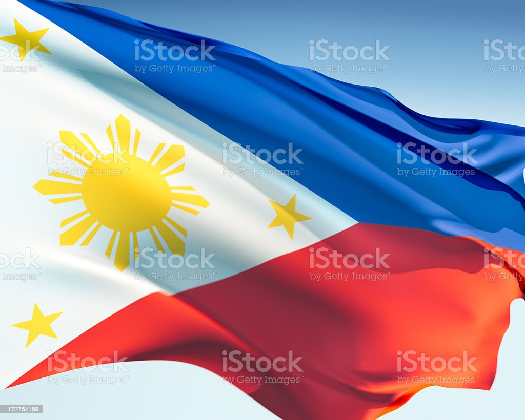 Flag of the Philippines royalty-free stock photo