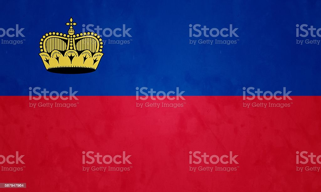 Flag Of The Principality Of Liechtenstein stock photo