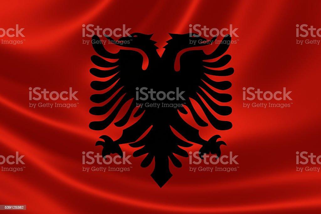 Flag of the Republic of Albania stock photo