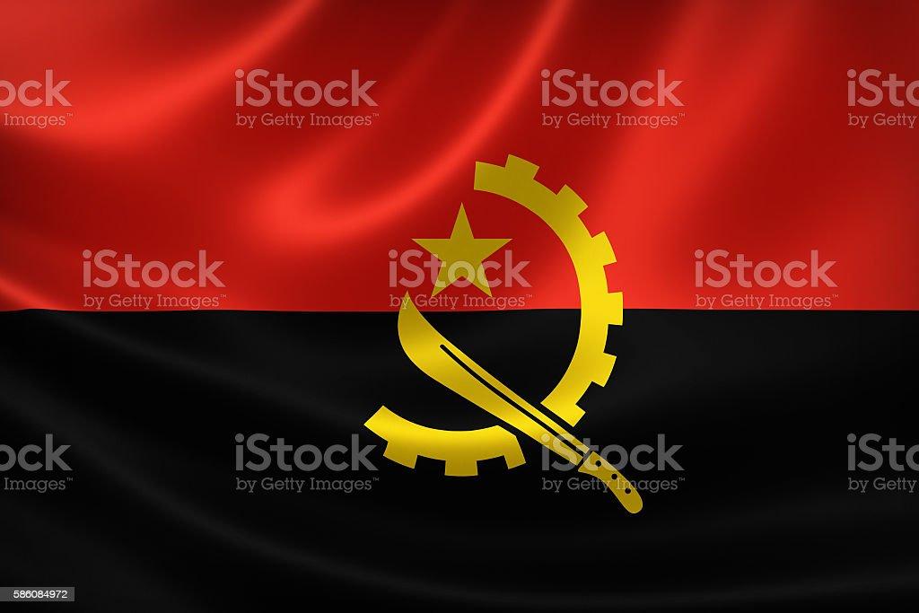 Flag of the Republic of Angola stock photo