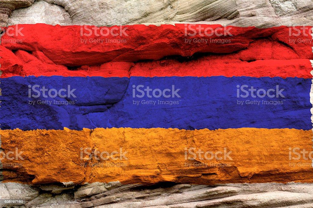 Flag of the Republic of Armenia stock photo