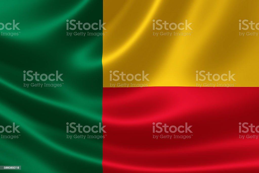 Flag of the Republic of Benin stock photo